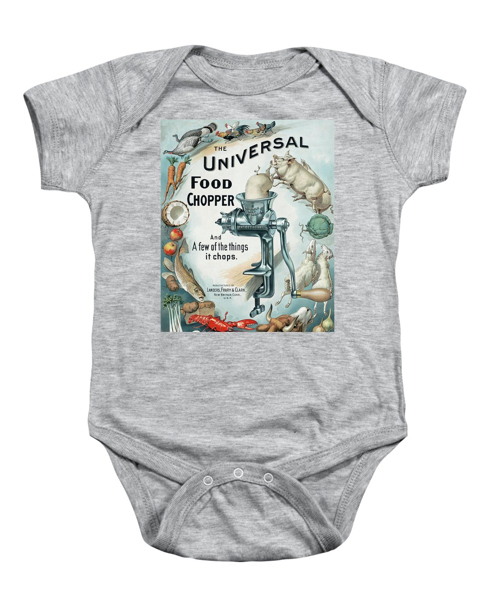Grinder Baby Onesie featuring the photograph Universal Food Chopper No. 2 1899 by Daniel Hagerman