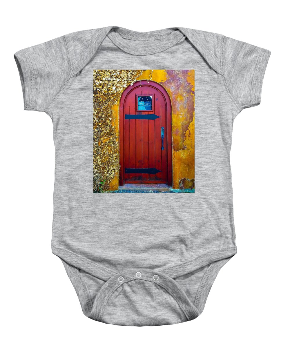 Ivy Baby Onesie featuring the photograph Where Now by Jennifer Loncz