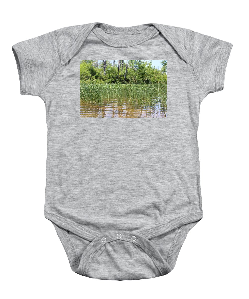 Lake Baby Onesie featuring the photograph Wild Waters by Brittany Galipeau