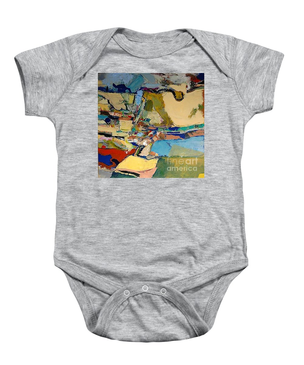 Landscape Baby Onesie featuring the painting Pastime Drive by Allan P Friedlander