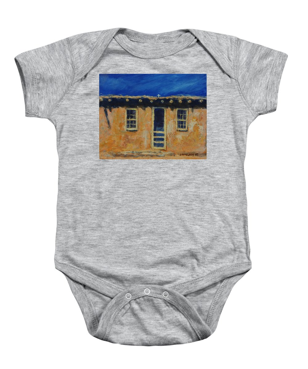 Acoma Baby Onesie featuring the painting Acoma by Jerry McElroy