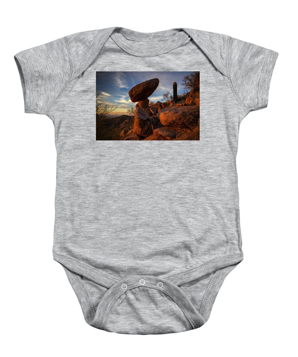 Photography Baby Onesie featuring the photograph Ancient Ones by Kati Astraeir