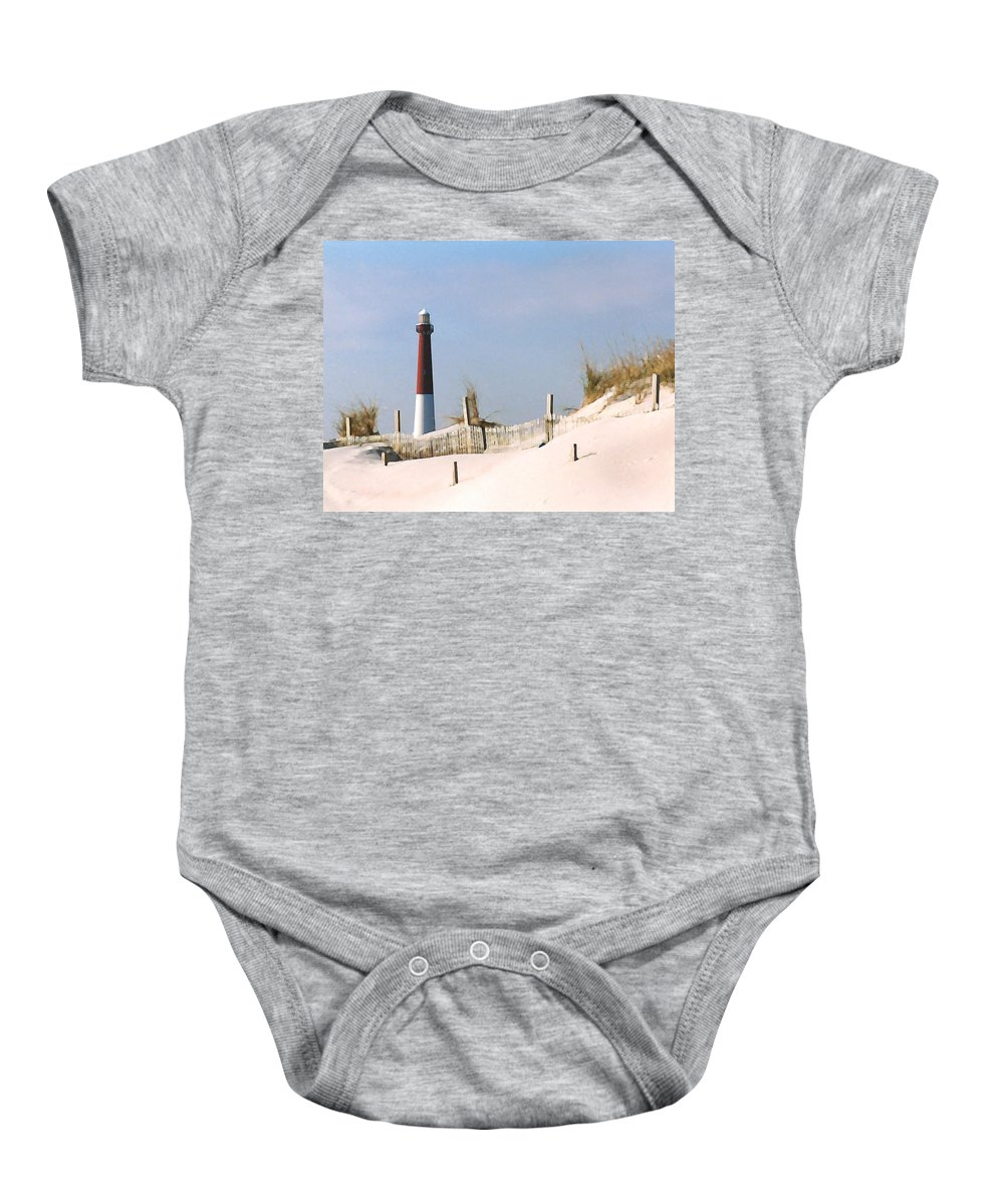 Barnegat Baby Onesie featuring the photograph Barnegat Lighthouse by Steve Karol