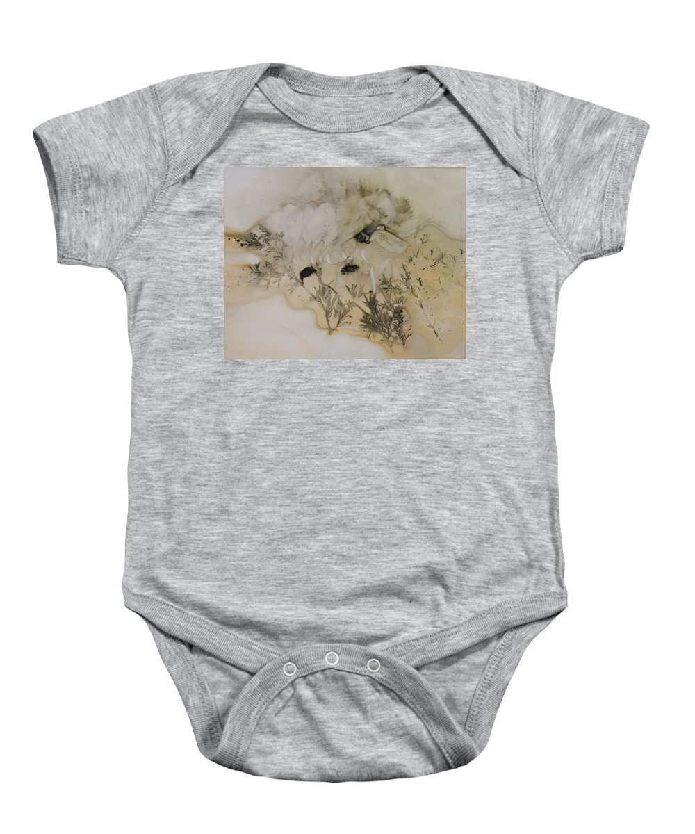 Nature Baby Onesie featuring the mixed media Eco print 5 by Charla Van Vlack