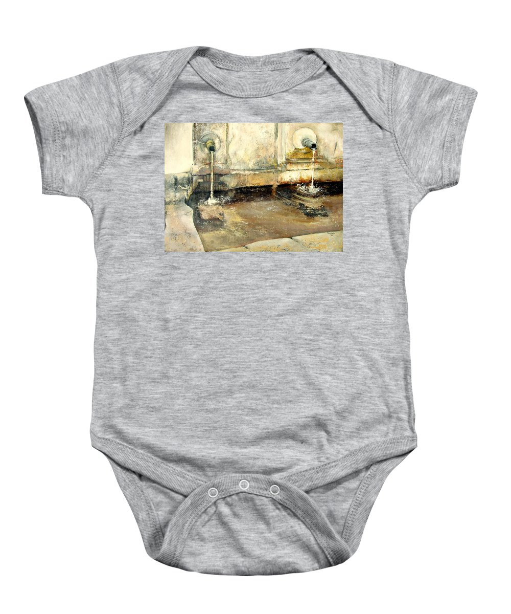 Fuente Baby Onesie featuring the painting Fuente by Tomas Castano