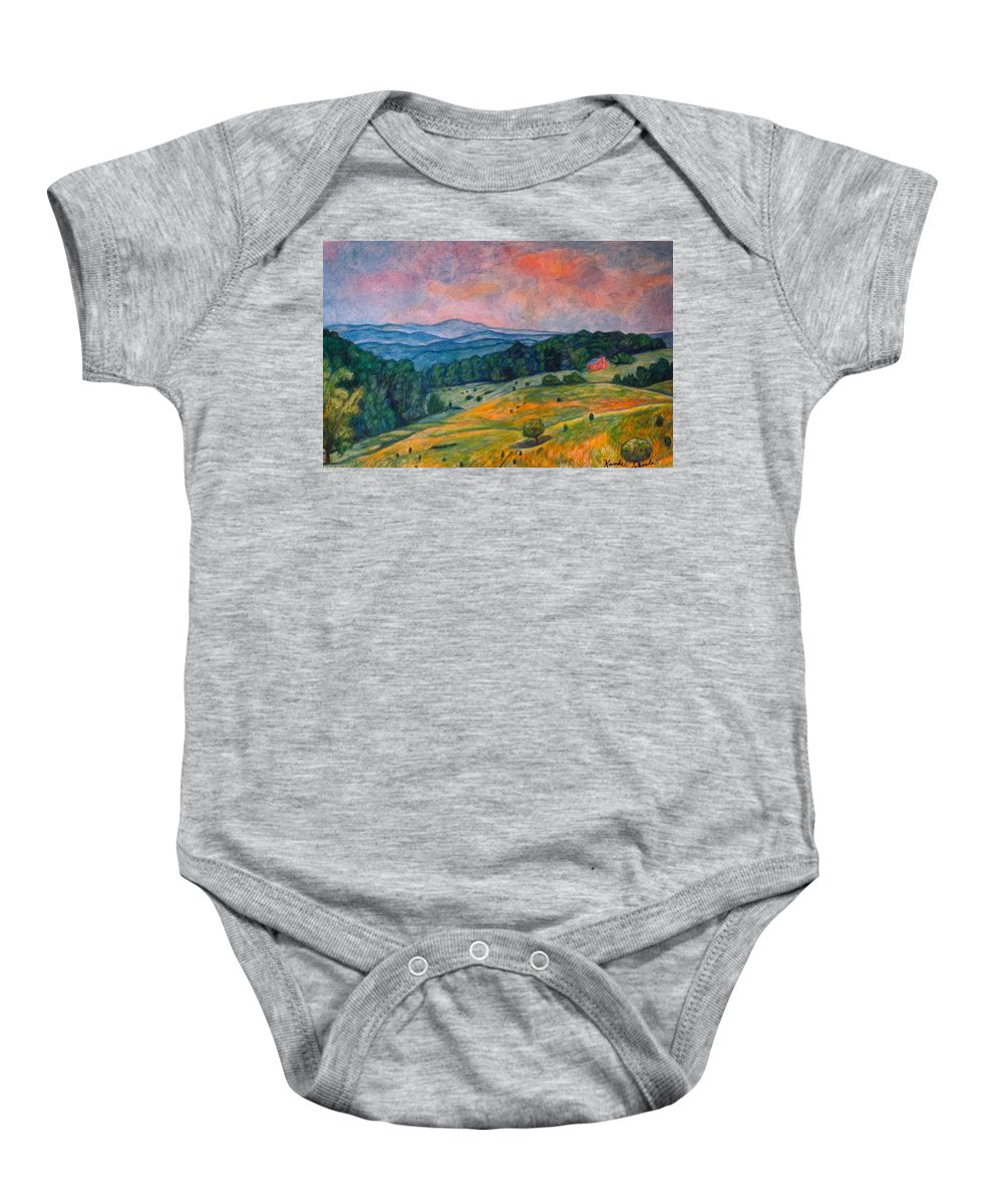 Ingles Mountain Baby Onesie featuring the painting Ingles Mountain by Kendall Kessler