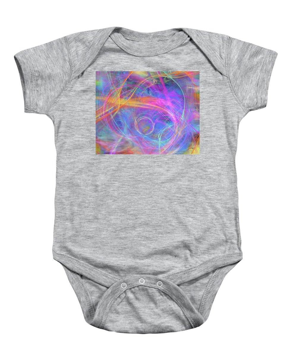 Mystic Beginning Baby Onesie featuring the digital art Mystic Beginning by John Robert Beck