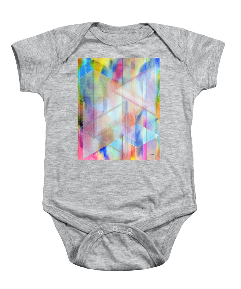 Pastoral Moment Baby Onesie featuring the digital art Pastoral Moment by John Robert Beck