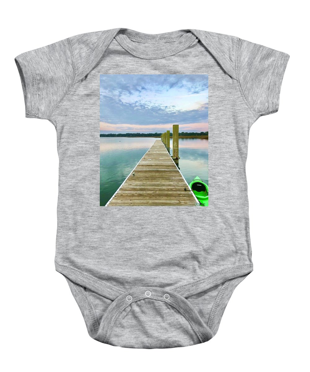 Landscape Baby Onesie featuring the photograph Serene Destinations by Michael Stothard