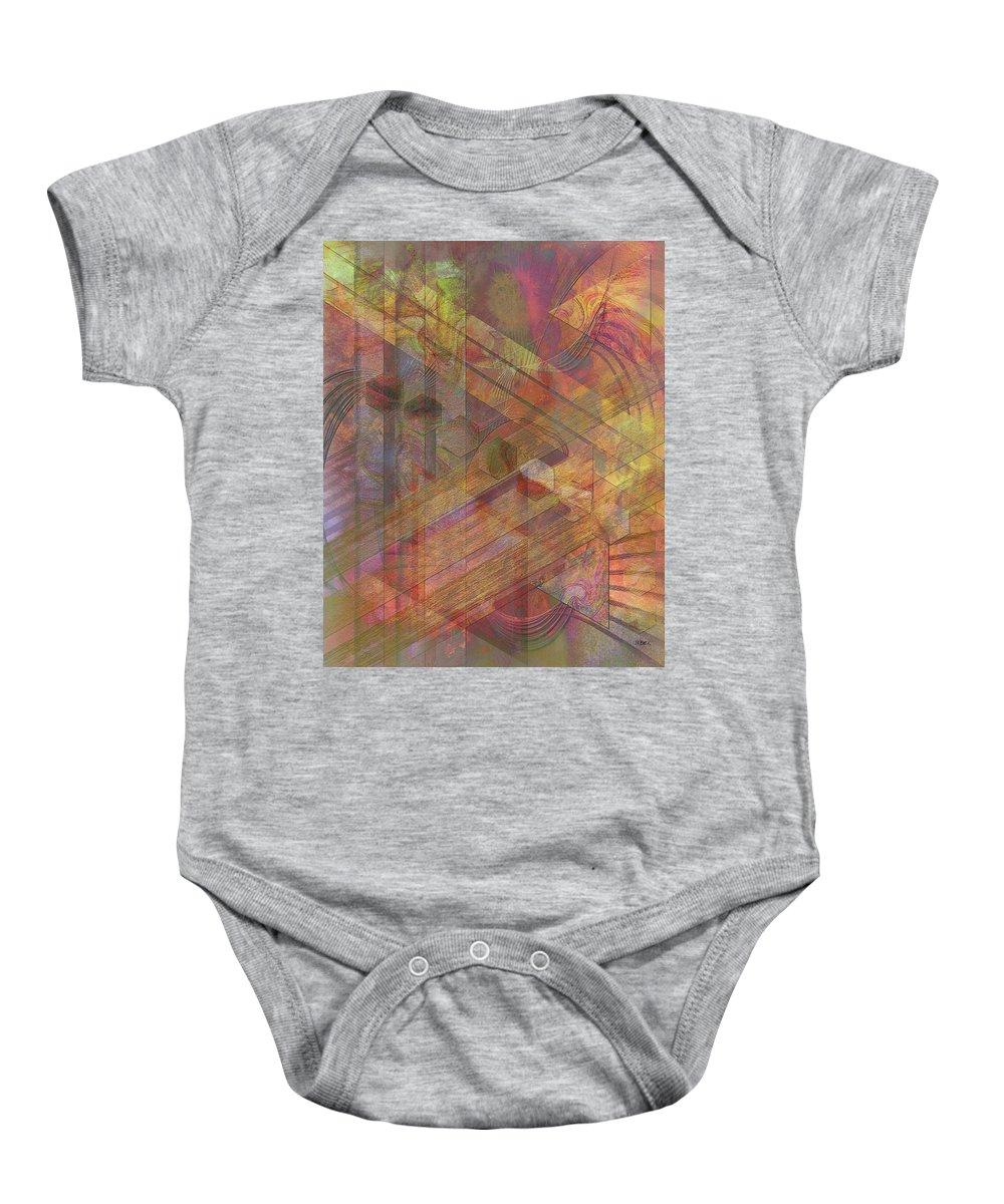 Soft Fantasia Baby Onesie featuring the digital art Soft Fantasia by John Robert Beck