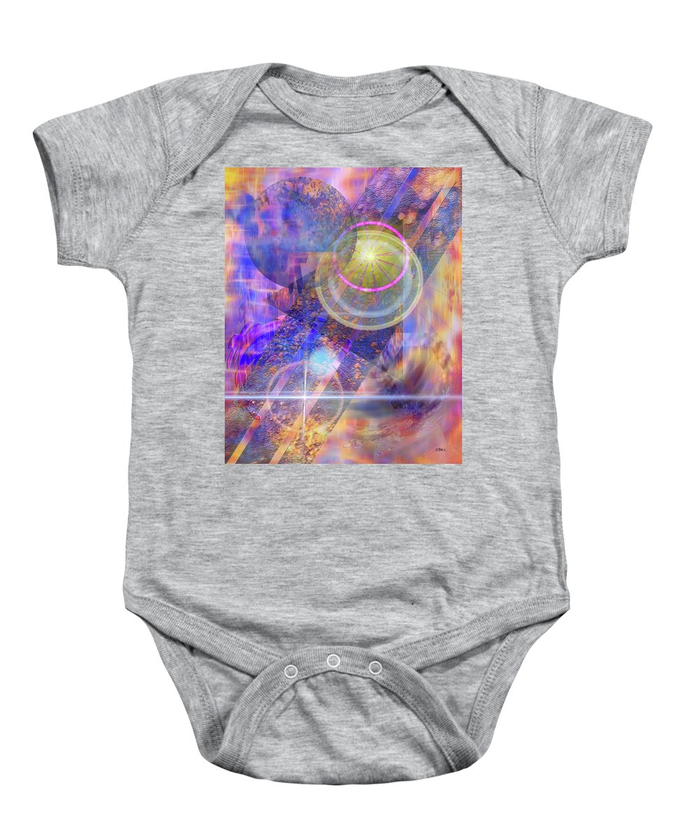Solar Progression Baby Onesie featuring the digital art Solar Progression by John Robert Beck