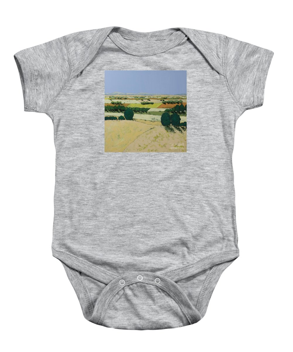 Landscape Baby Onesie featuring the painting Summer Candy by Allan P Friedlander