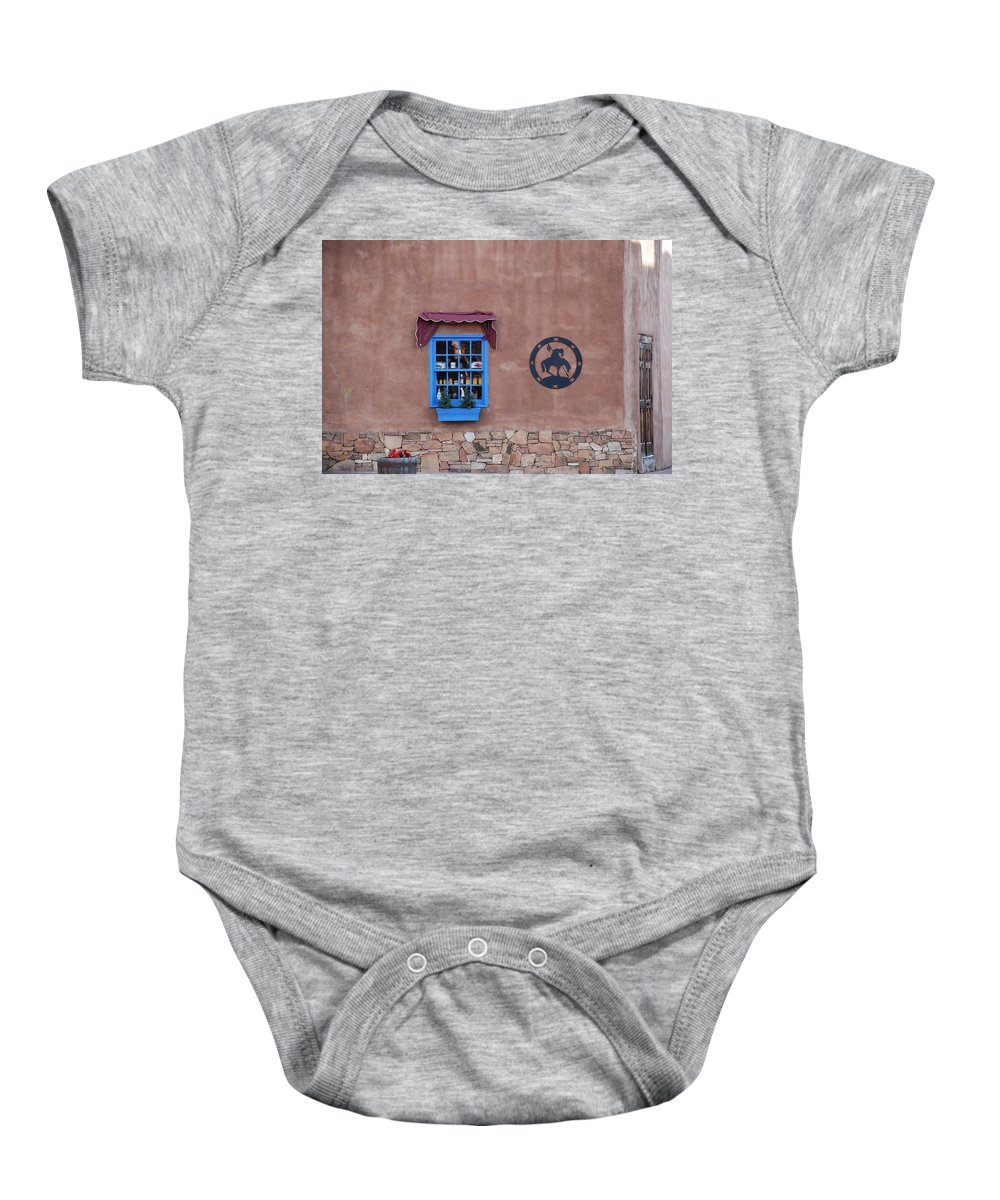 Architecture Baby Onesie featuring the photograph The Santa Fe Window by Rob Hans