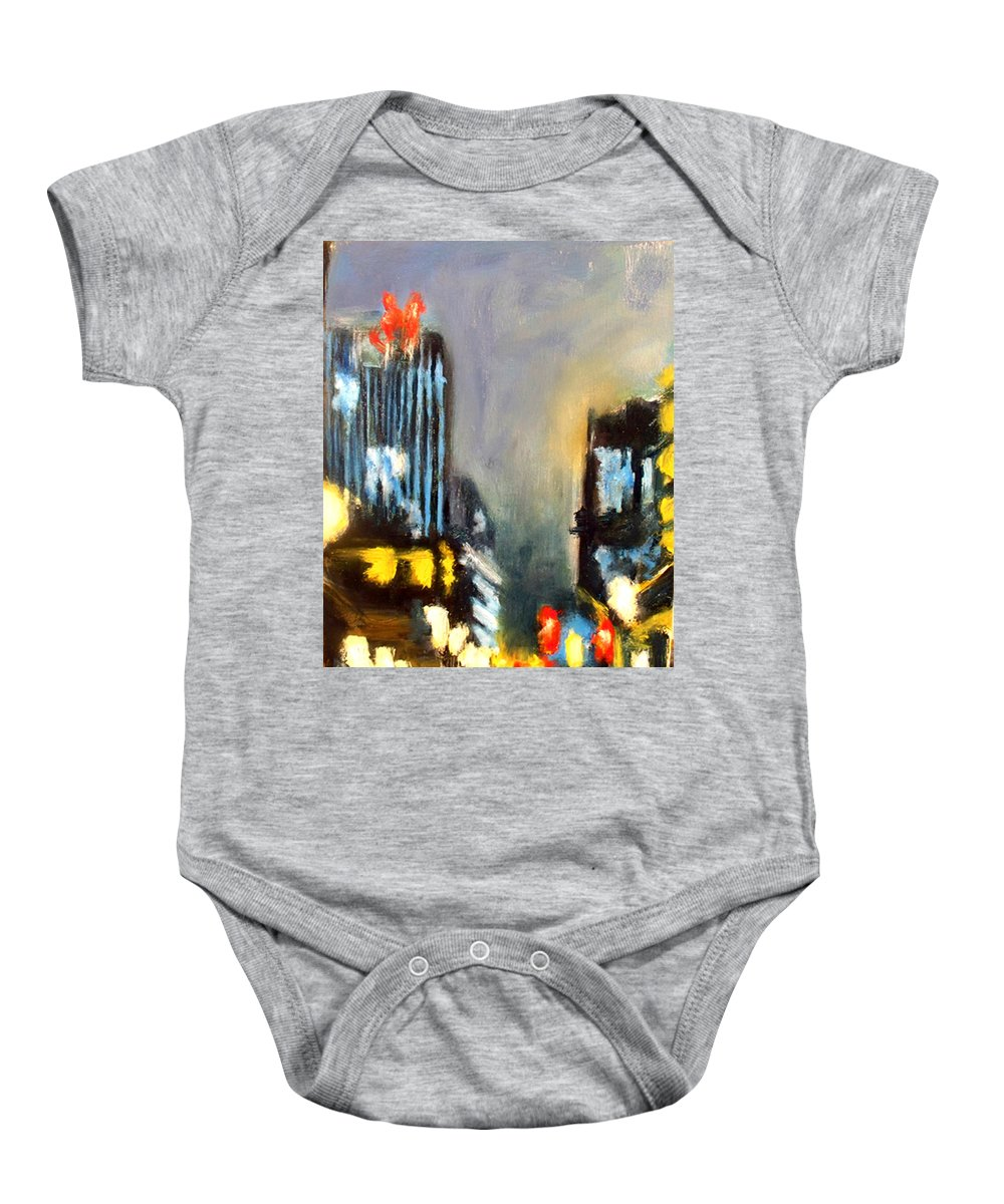 Baby Onesie featuring the painting Untitled II - Des Moines by Robert Reeves