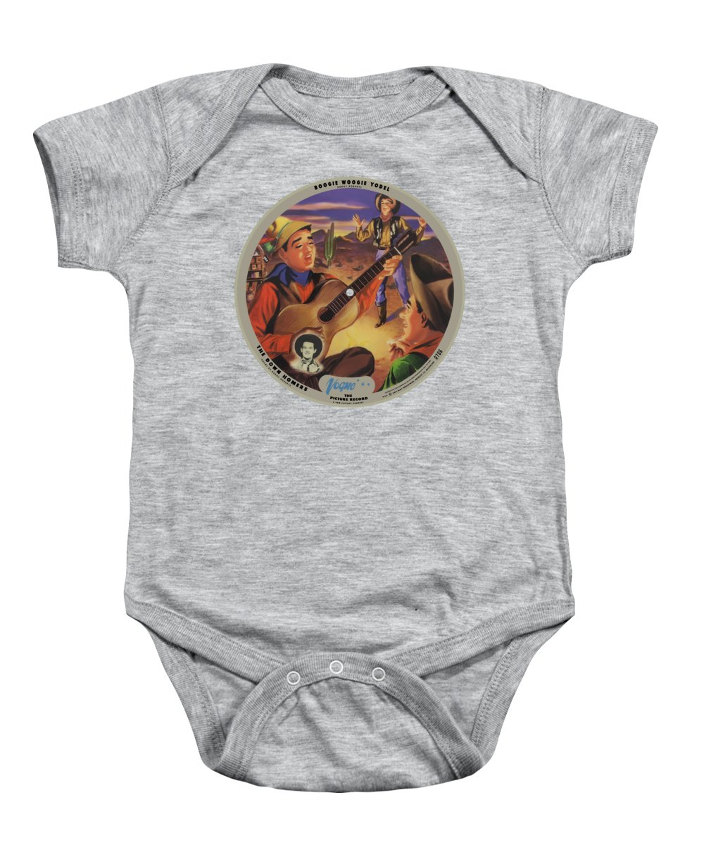 Vogue Picture Record Baby Onesie featuring the digital art Vogue Record Art - R 786 - P 52 - Square Version by John Robert Beck