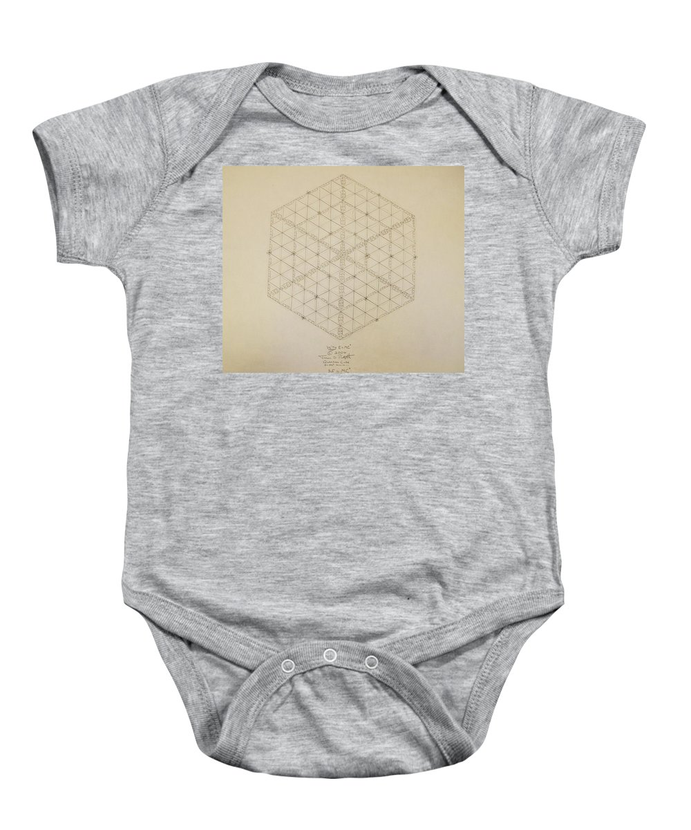 E=mc2 Baby Onesie featuring the drawing Why E equals MC2 by Jason Padgett