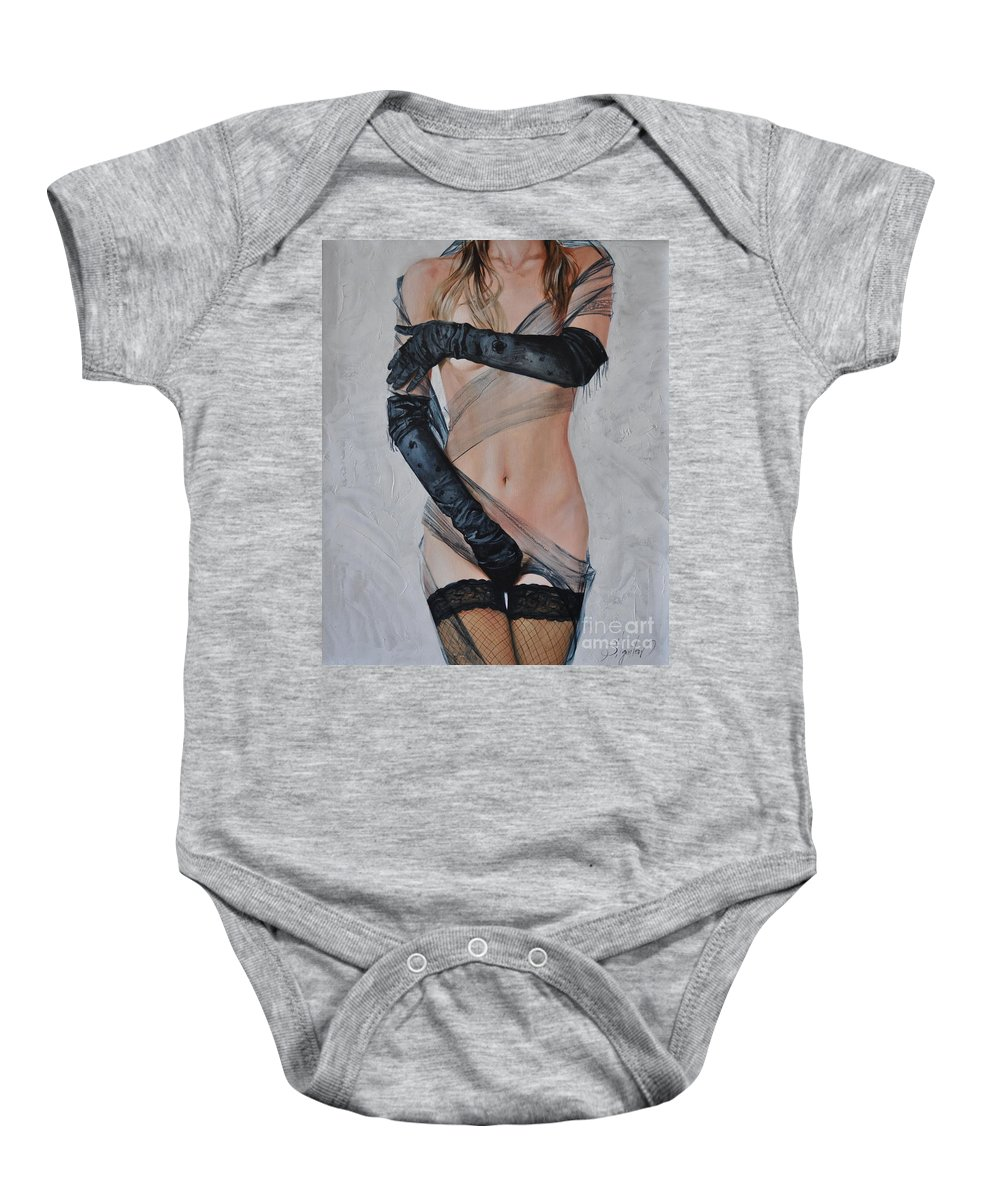 Ignatenko Baby Onesie featuring the painting Without nudity by Sergey Ignatenko