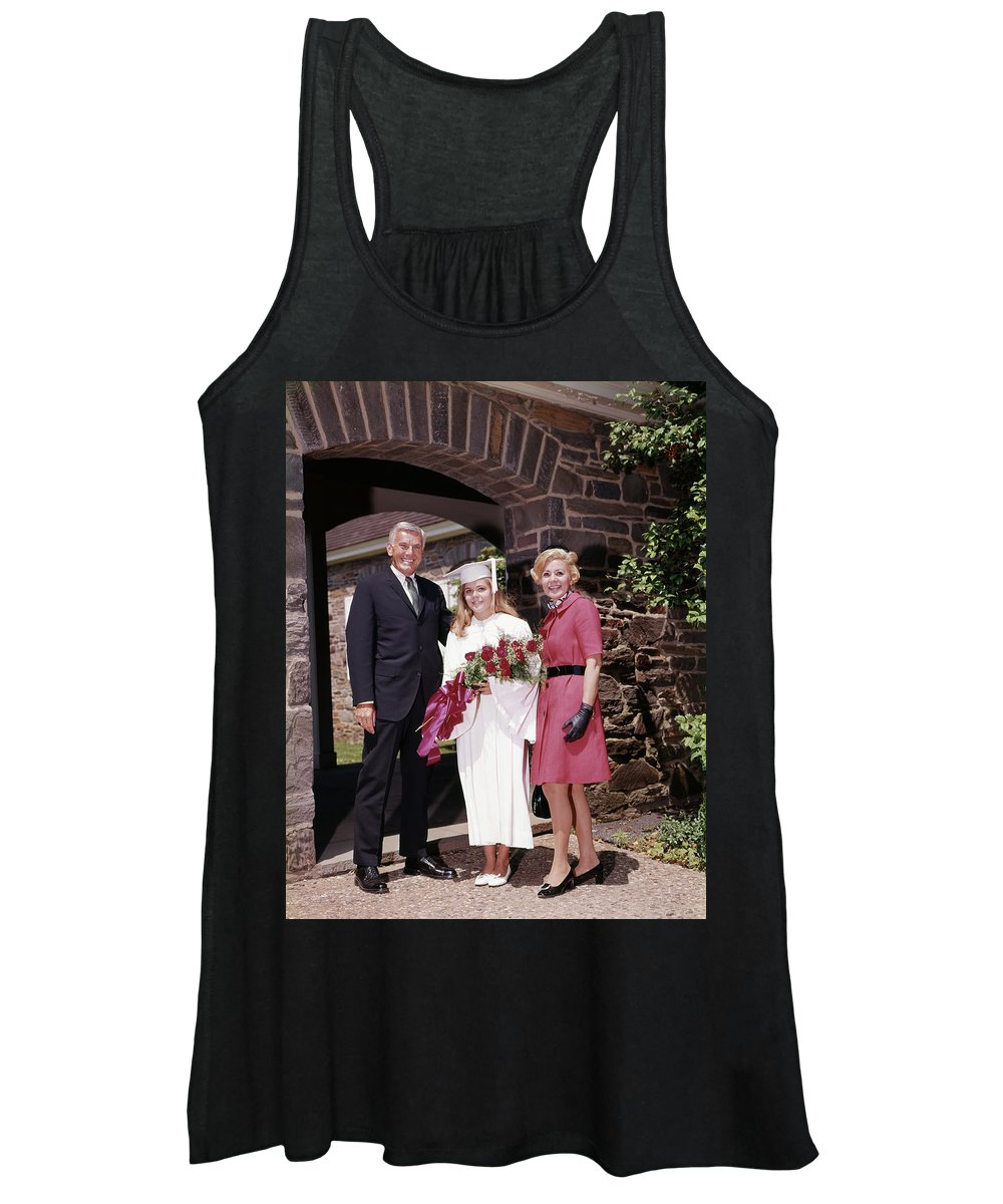 Photography Women's Tank Top featuring the photograph 1960s Proud Parents With Daughter by Vintage Images