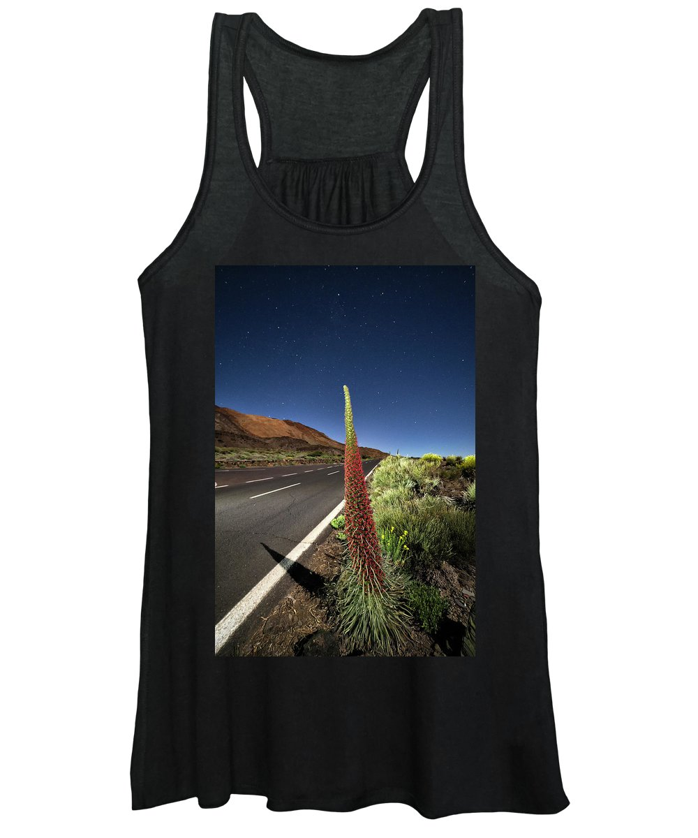 Tower Of Jewels Women's Tank Top featuring the photograph Tajinaste Flowers Unique To Tenerife by David Santiago Garcia