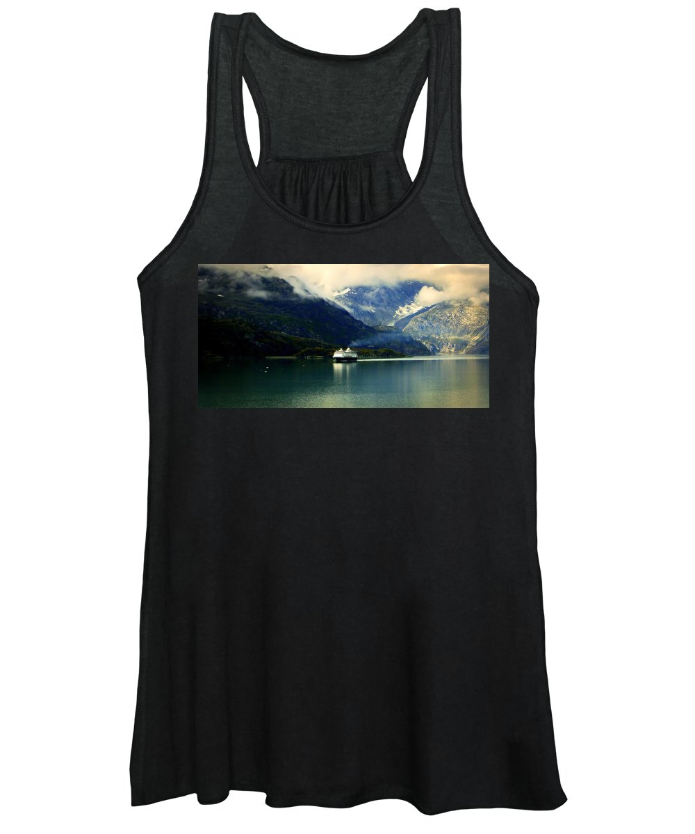 Alaskan Waterscapes Women's Tank Top featuring the photograph At The Helm Of Peace by Karen Wiles