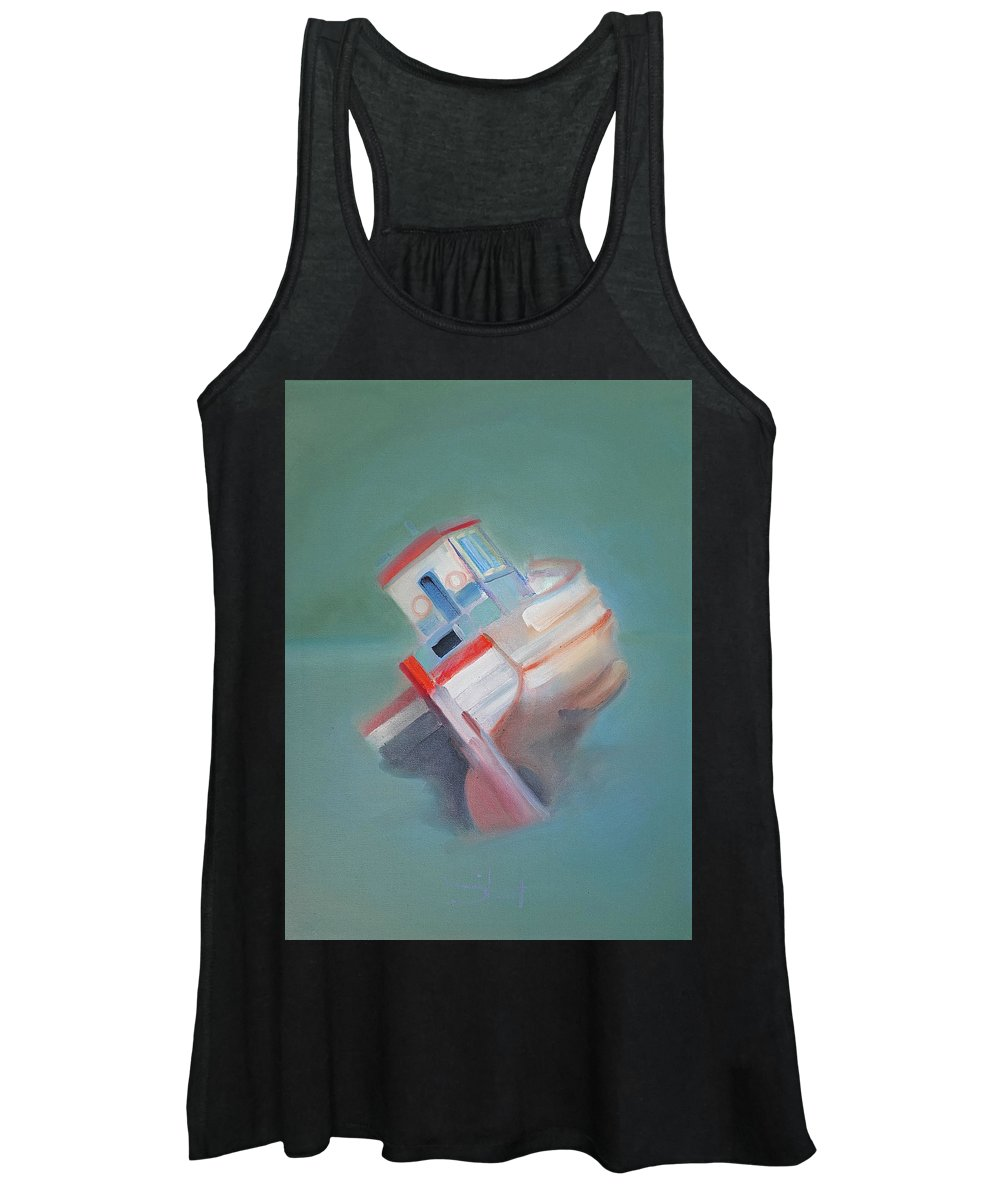 Fishing Boat Women's Tank Top featuring the painting Boat Retired Tavira by Charles Stuart