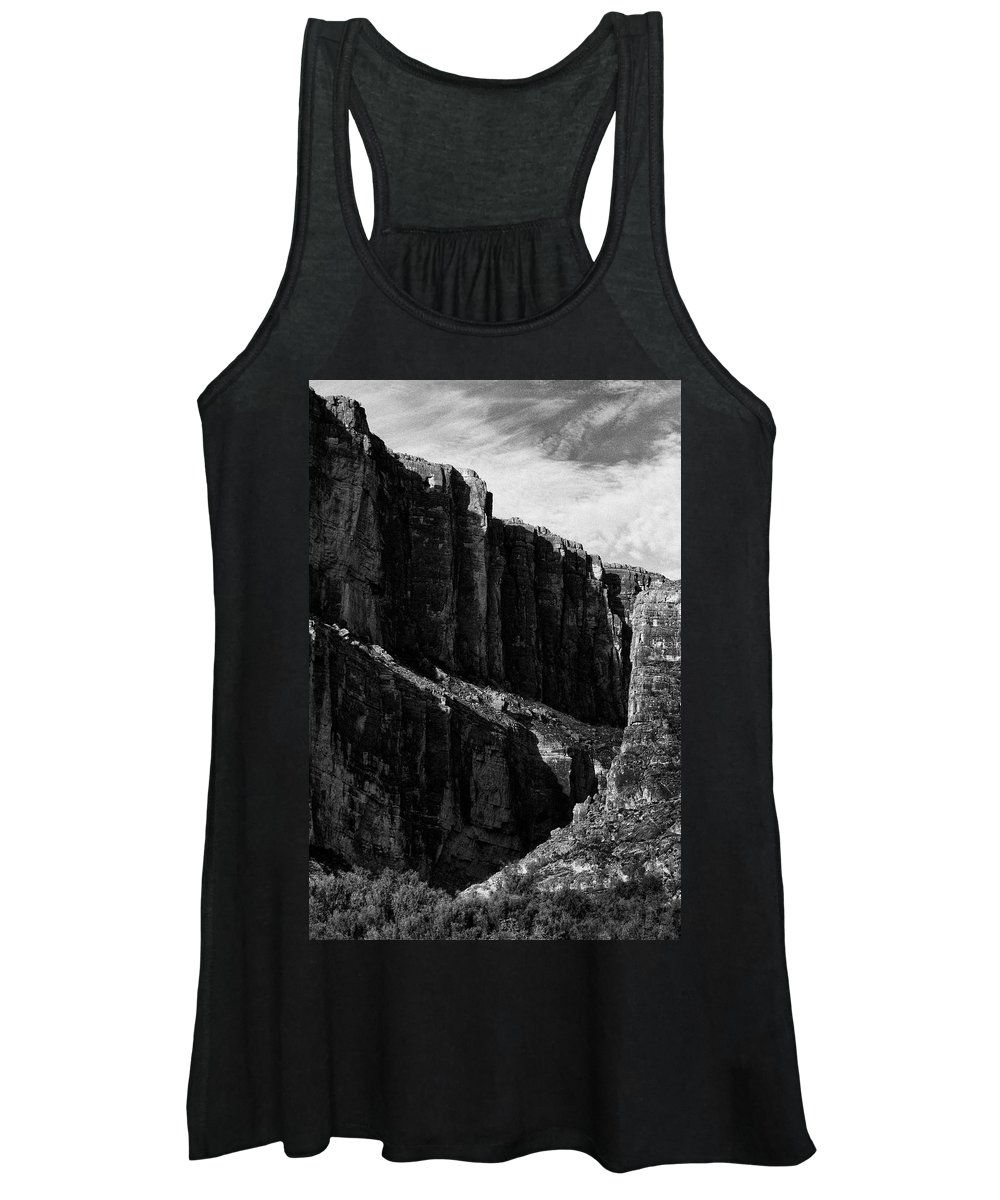 Desert Women's Tank Top featuring the photograph Cliffs in Contrast by Renee Cline