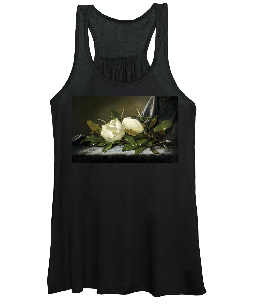 Fowl Women's Tank Top featuring the painting Giant Magnolias by Martin Johnson Heade