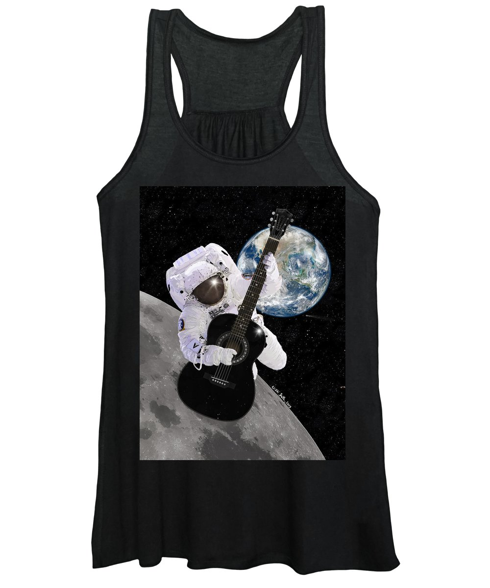 Astronaut Women's Tank Top featuring the digital art Ground Control To Major Tom by Nikki Marie Smith