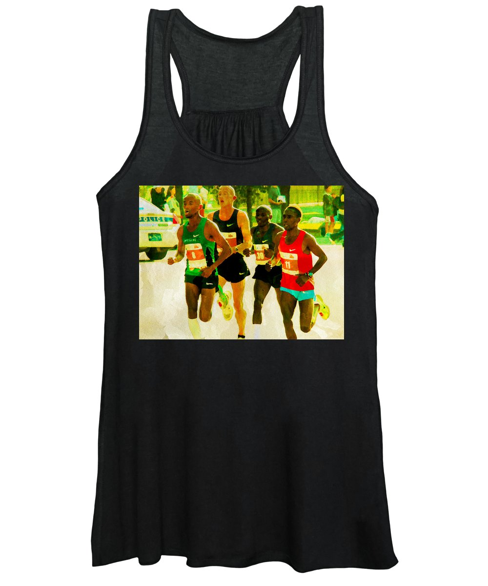 Runners Women's Tank Top featuring the photograph Runners by Alice Gipson