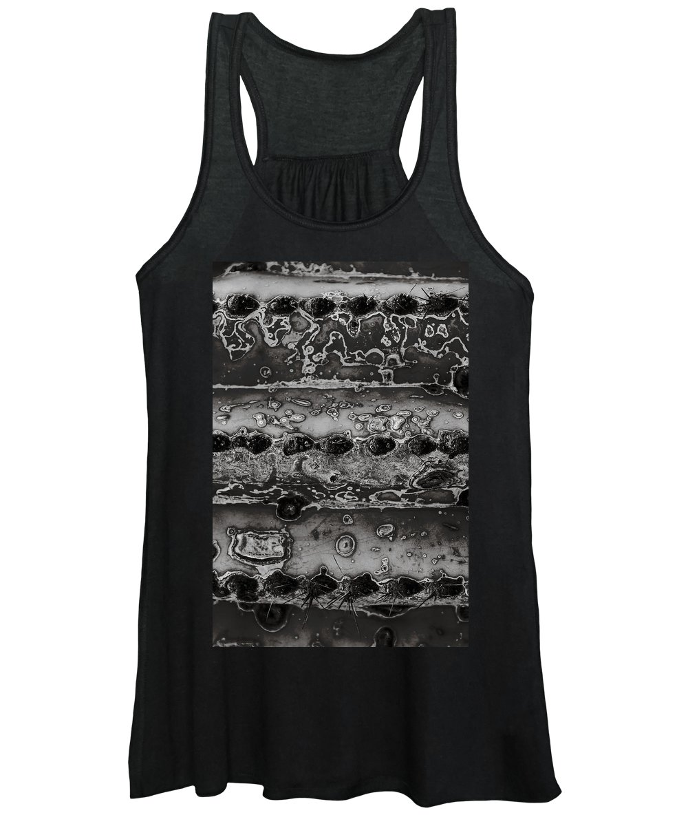 Saguaro Women's Tank Top featuring the photograph Saguaro Cactus Black and White 2 by Renee Cline
