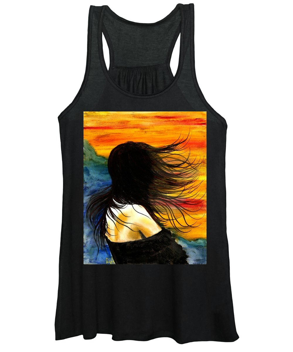 Beautiful Women's Tank Top featuring the photograph Solo Mood by Artist RiA