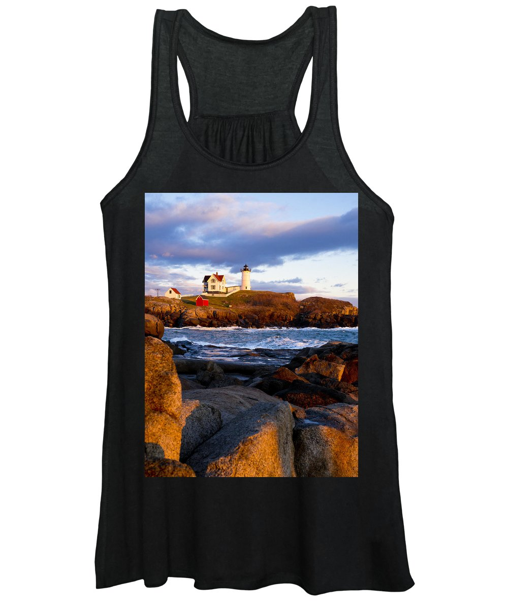 Lighthouse Women's Tank Top featuring the photograph The Nubble Lighthouse by Steven Ralser