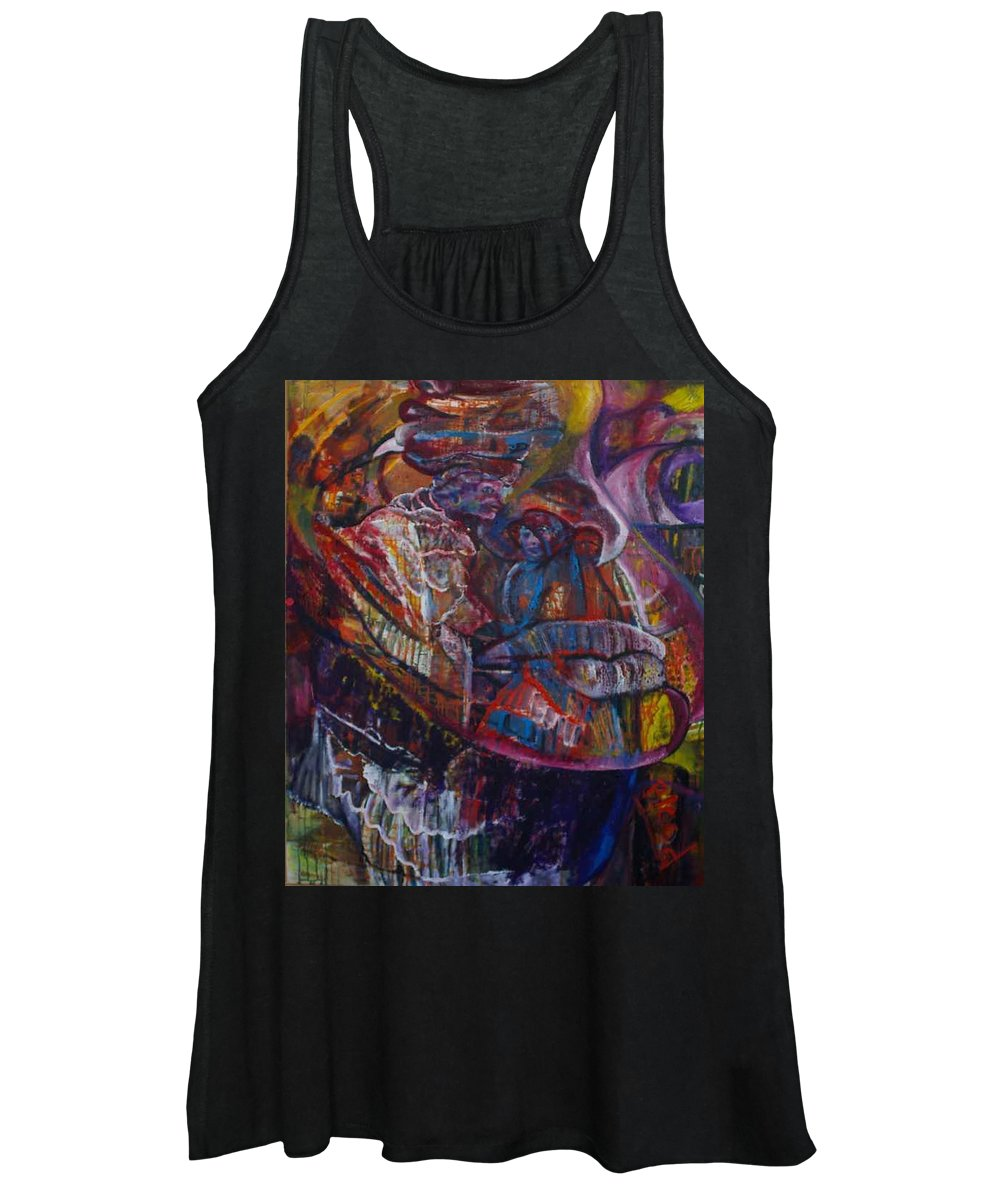 African Women Women's Tank Top featuring the painting Tikor Woman by Peggy Blood