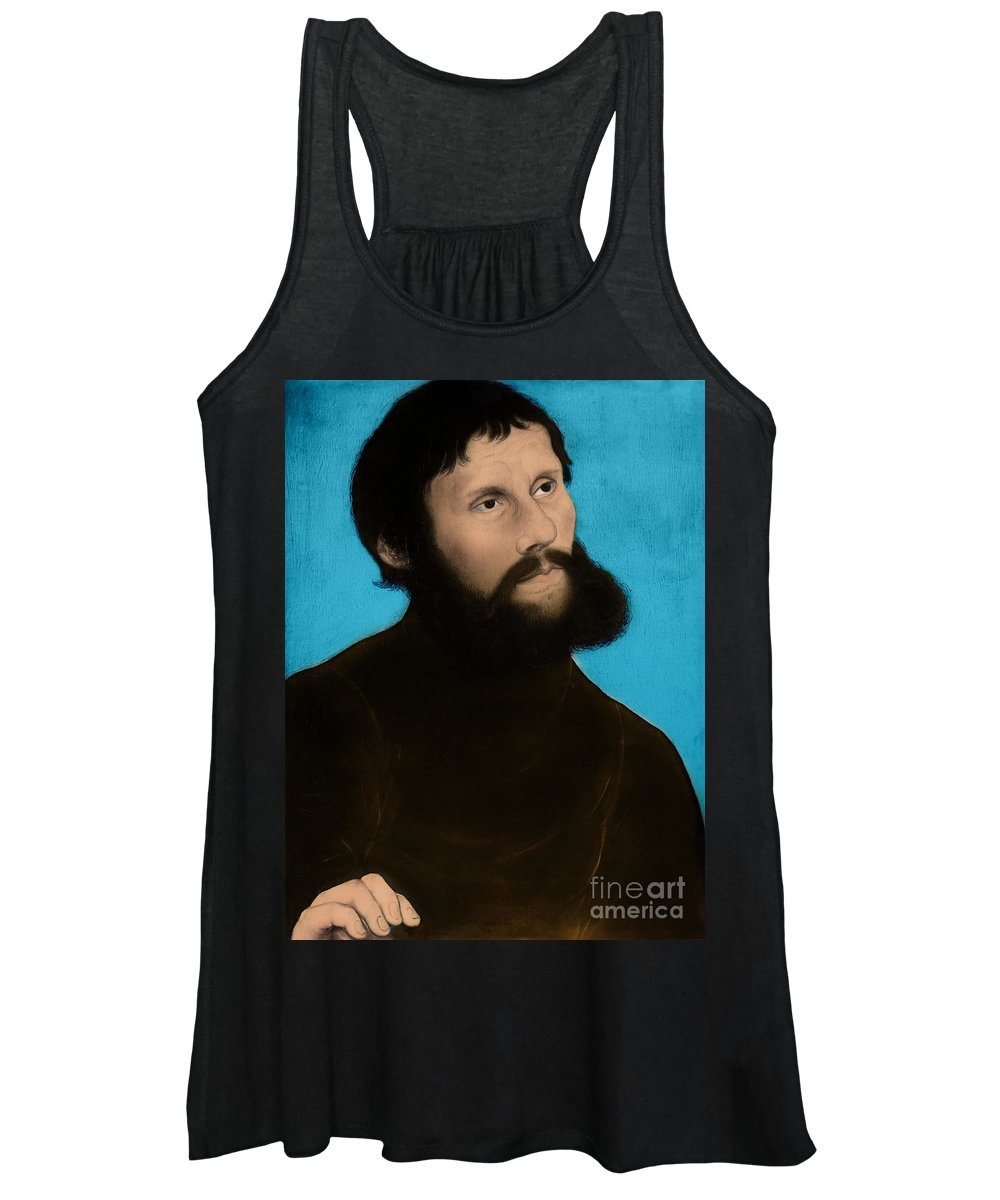History Women's Tank Top featuring the photograph Martin Luther, German Theologian by Omikron