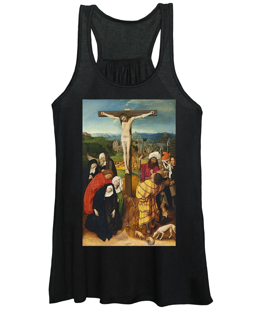 Christ Women's Tank Top featuring the painting Crucifixion by Gerard David