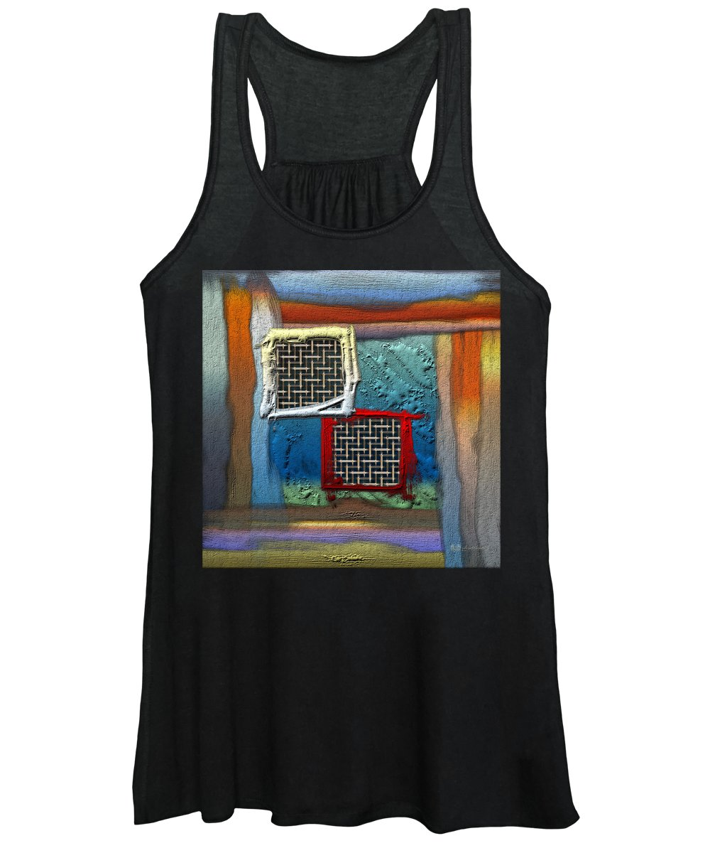 'abstracts Plus' Collection By Serge Averbukh Women's Tank Top featuring the photograph Obstructed Ocean View by Serge Averbukh
