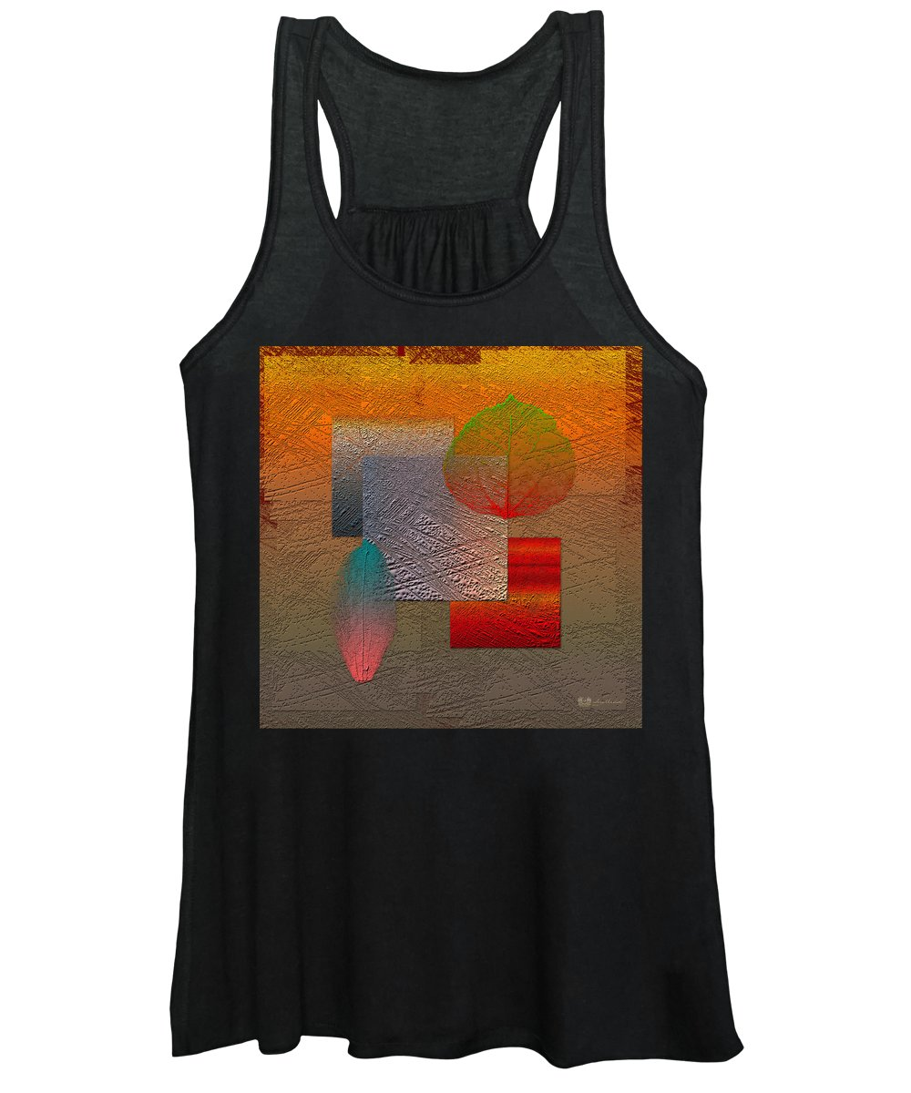 Abstracts By Serge Averbukh Women's Tank Top featuring the photograph Quiet Sunset at the End of Northern Summer by Serge Averbukh