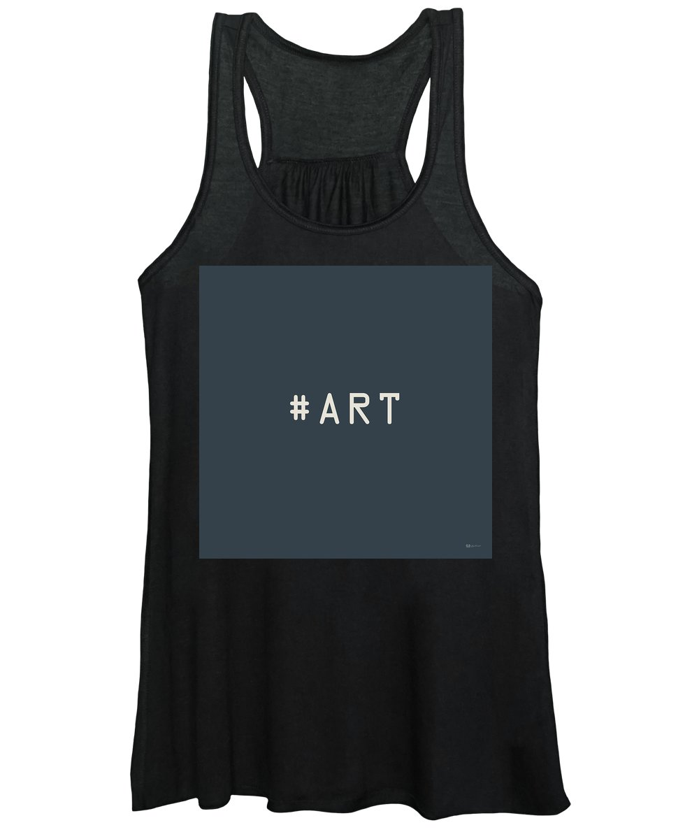 The Meaning Of Art By Serge Averbukh Women's Tank Top featuring the photograph The Meaning of Art - Hashtag by Serge Averbukh