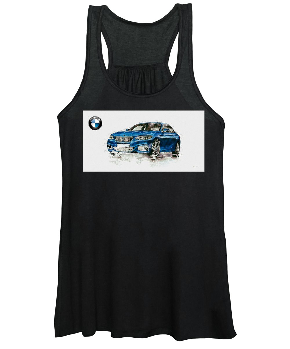 Wheels Of Fortune By Serge Averbukh Women's Tank Top featuring the photograph 2014 B M W 2 Series Coupe With 3d Badge by Serge Averbukh