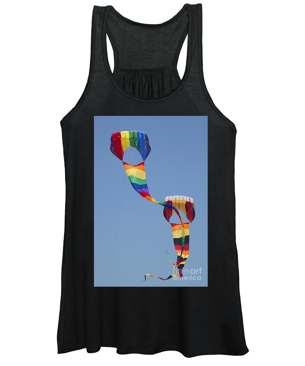 Tranquil Scene Women's Tank Top featuring the photograph Go Fly A Kite by Anthony Totah