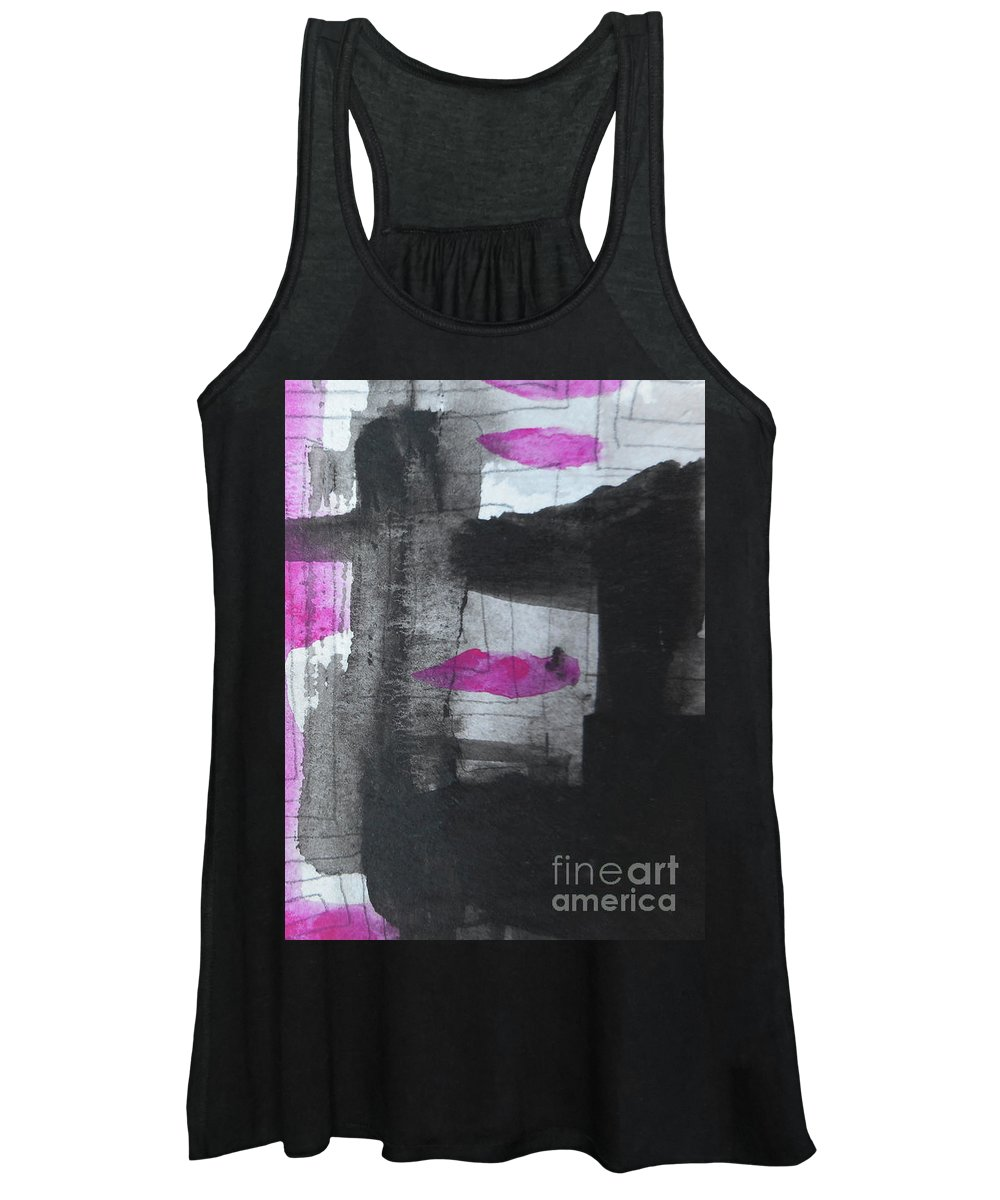 Katerina Stamatelos Women's Tank Top featuring the painting Abstract-15 by Katerina Stamatelos