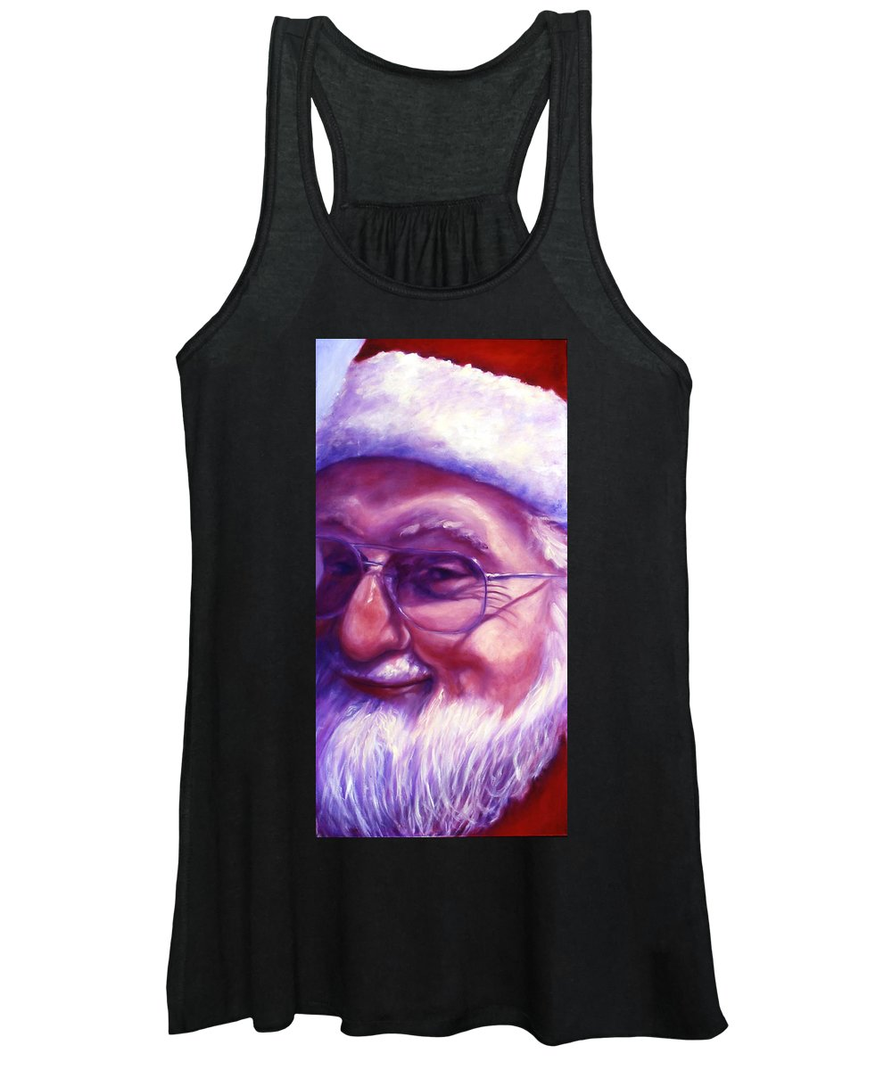 Portrait Women's Tank Top featuring the painting Are You Sure You Have Been Nice by Shannon Grissom