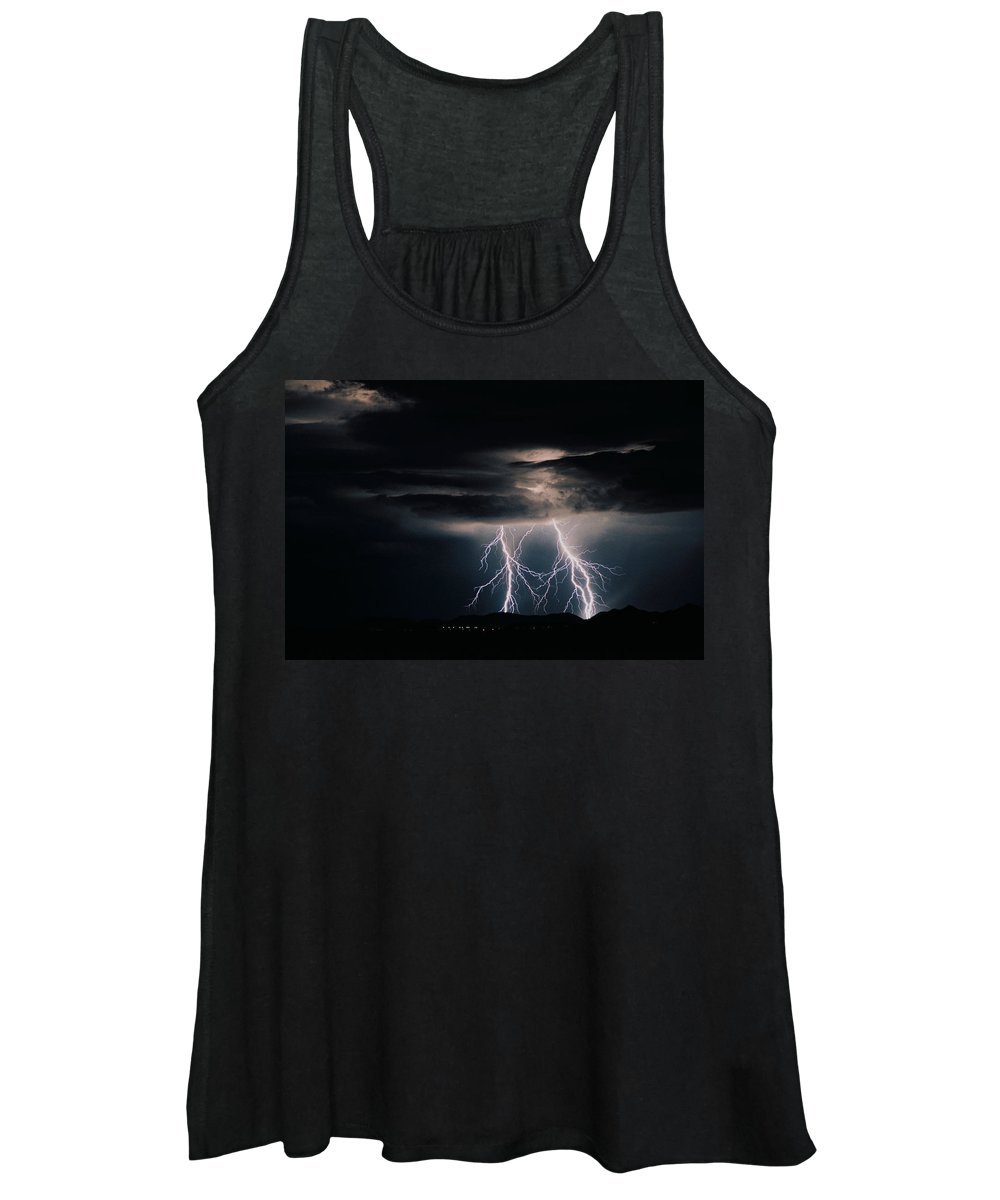 Arizona Women's Tank Top featuring the photograph Carefree Lightning by Cathy Franklin