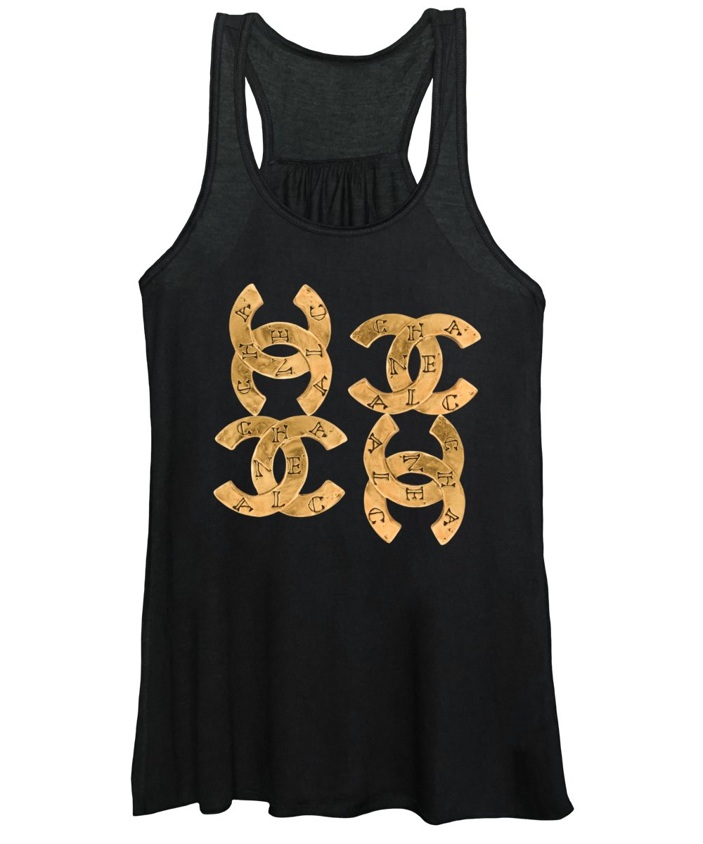 Chanel Women's Tank Top featuring the painting Chanel Jewelry-18 by Nikita