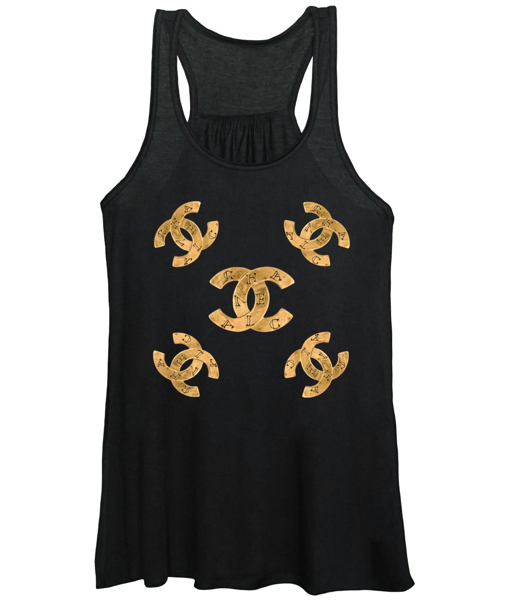 Chanel Women's Tank Top featuring the painting Chanel Jewelry-19 by Nikita