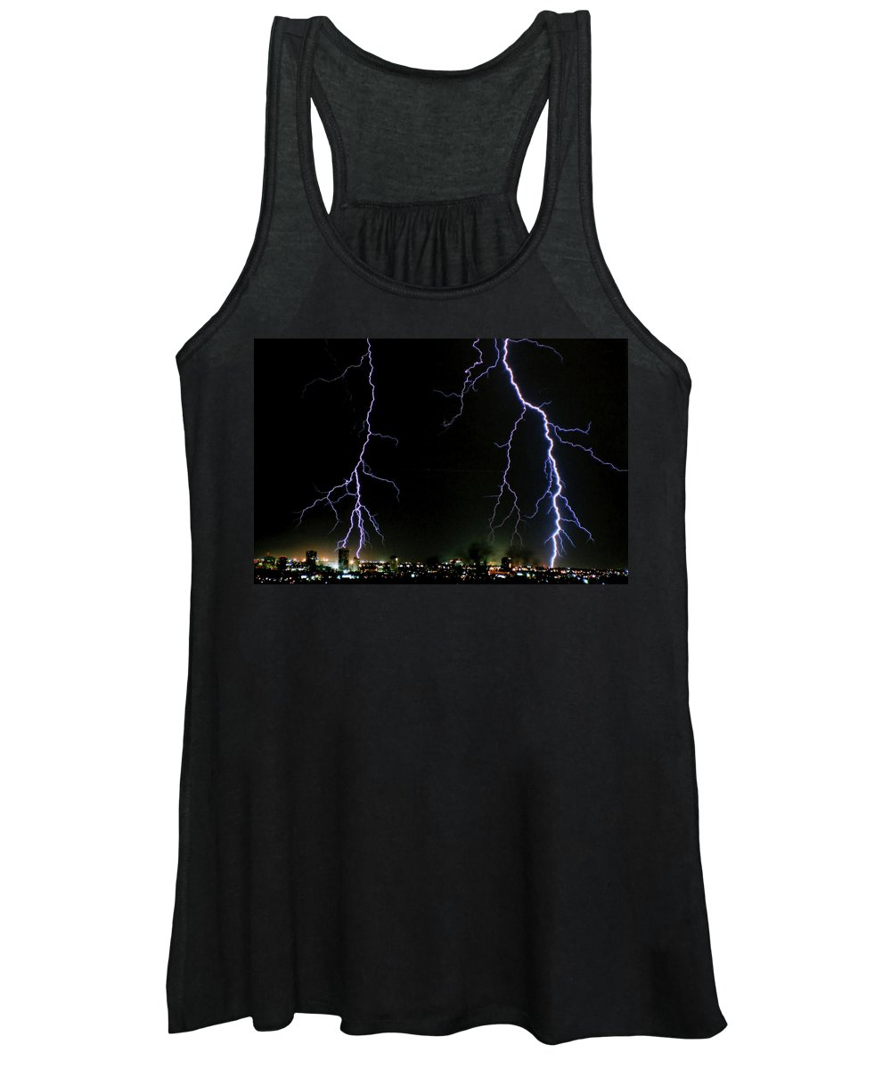 Arizona Women's Tank Top featuring the photograph City Lights by Cathy Franklin
