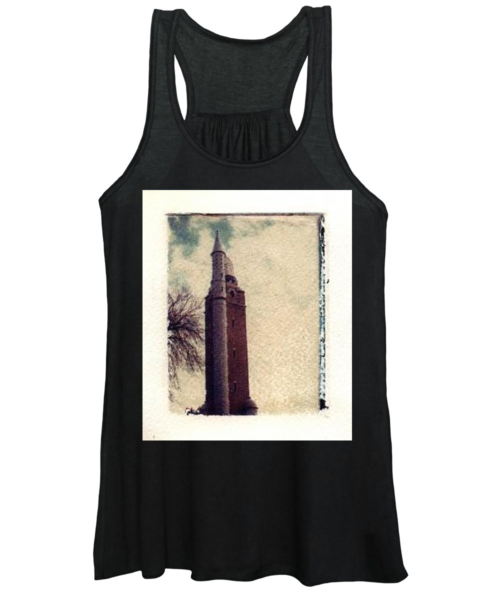 Polaroid Transfer Women's Tank Top featuring the photograph Compton Water Tower by Jane Linders