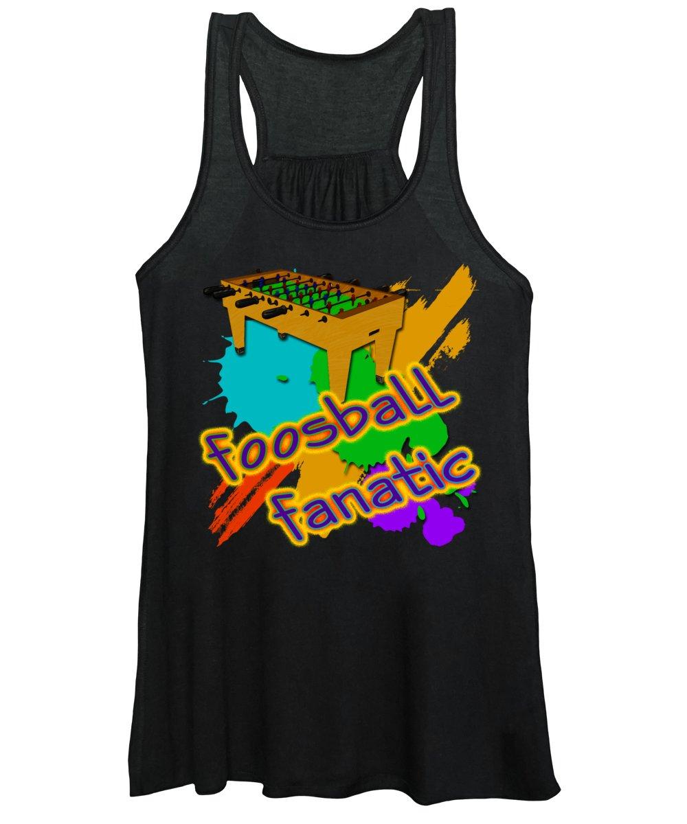 Foosball Fanatic Women's Tank Top featuring the digital art Foosball Fanatic by David G Paul