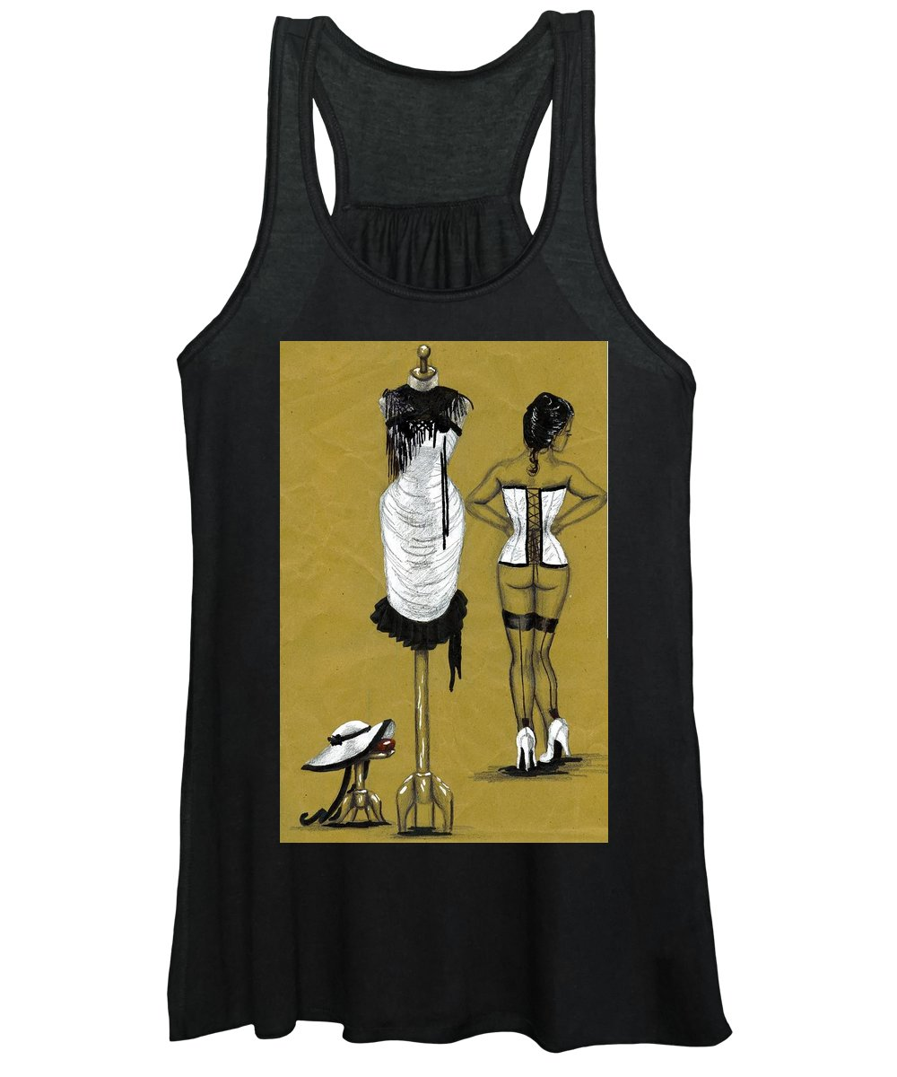 Style Women's Tank Top featuring the mixed media French Window by Scarlett Royal
