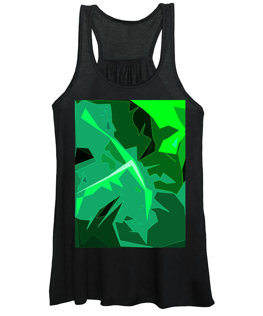 Foliage Women's Tank Top featuring the digital art Grape Leaves by Gina Harrison